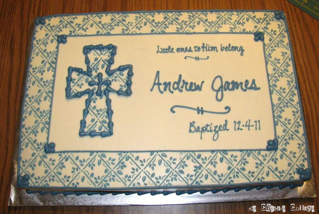 what to put on baptism cake
