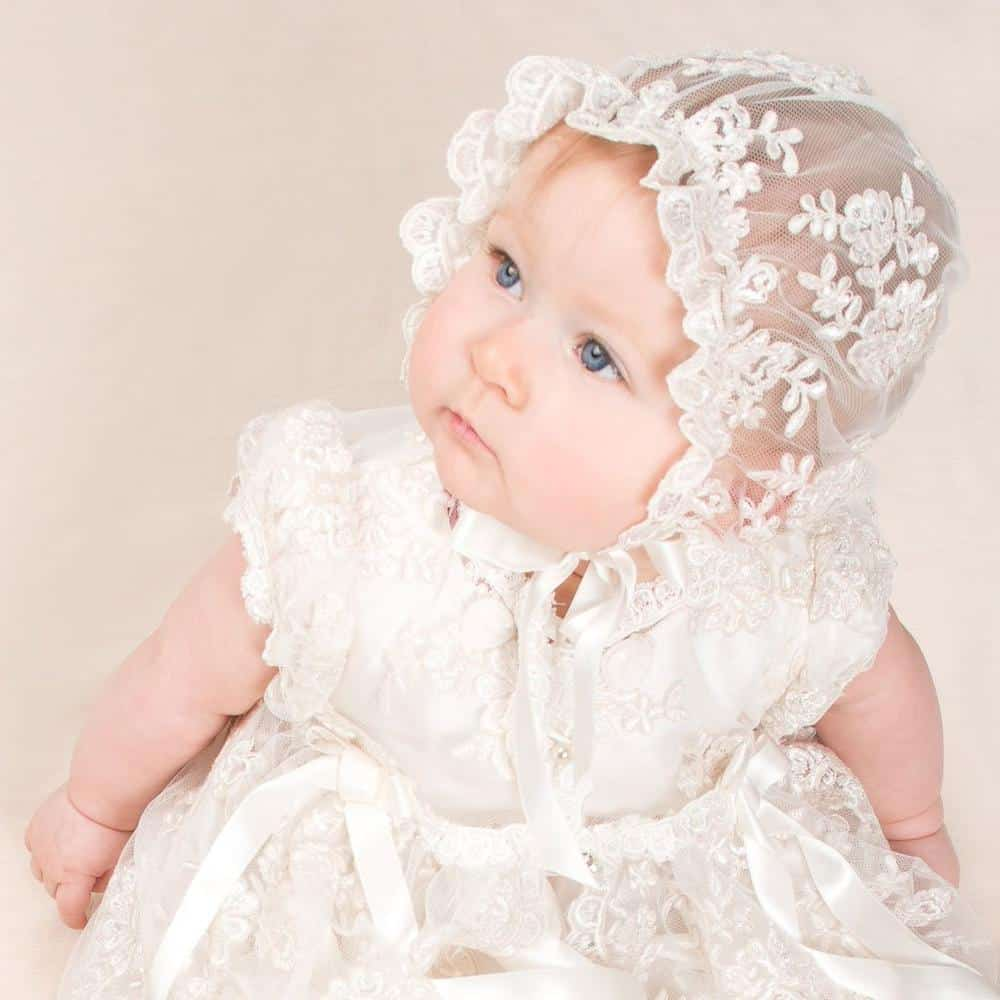 A baptism gown as baptism gift for infant