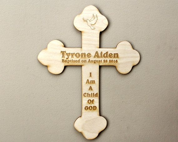 a great baptism gift from godfather to godson - a personalize cross