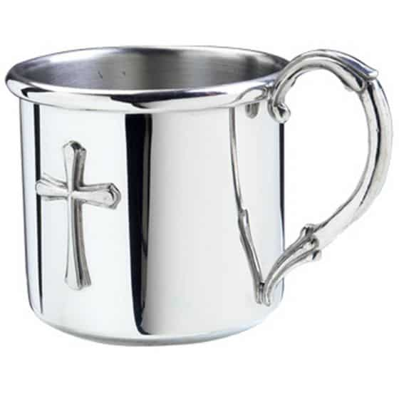 a pewter cup
