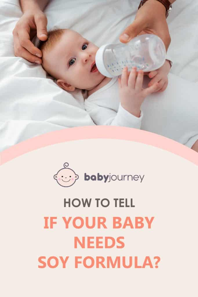 how to tell if your baby needs soy formula