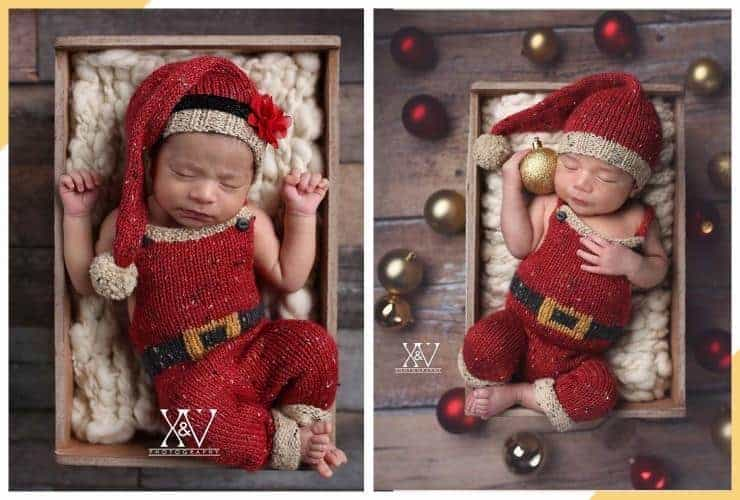 sleepy santa baby - 30 christmas pictures for baby collection by babyjourney