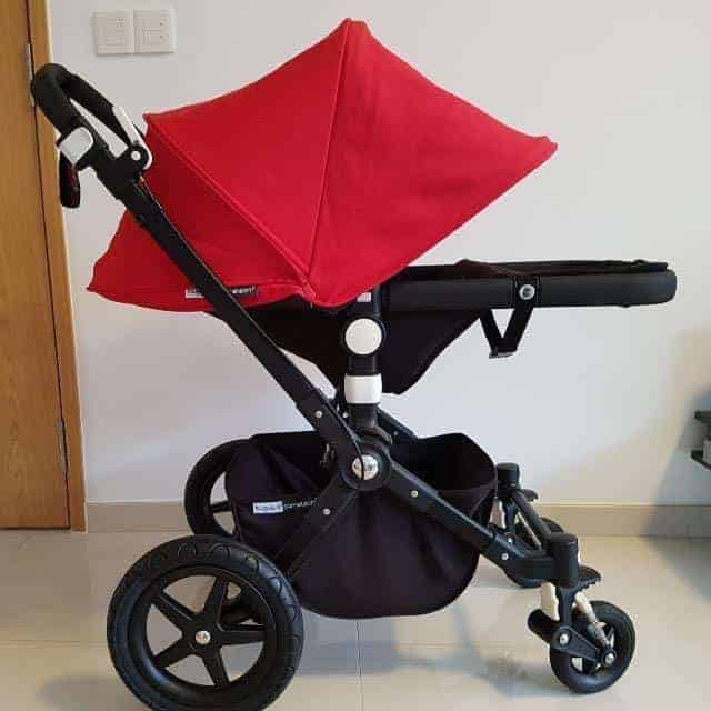 You can easily adjust the suspension height and direction of a Bugaboo Stroller. - Bugaboo Cameleon 3 Review | Baby Journey