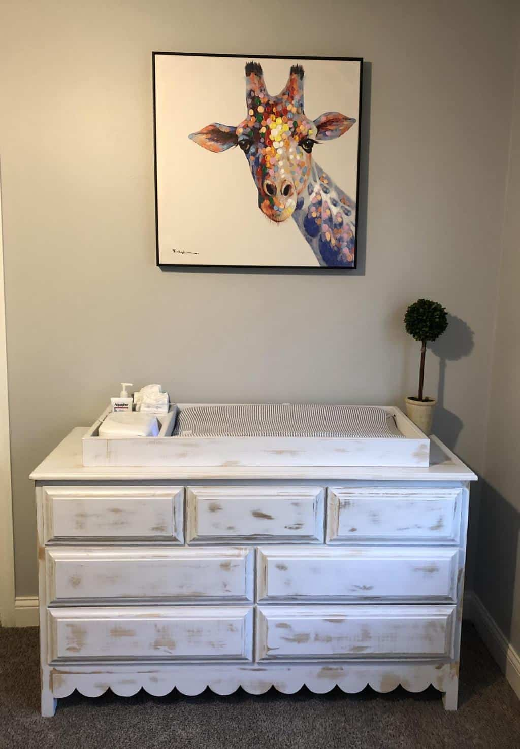 Dresser with changing table top for nursery | Ana White