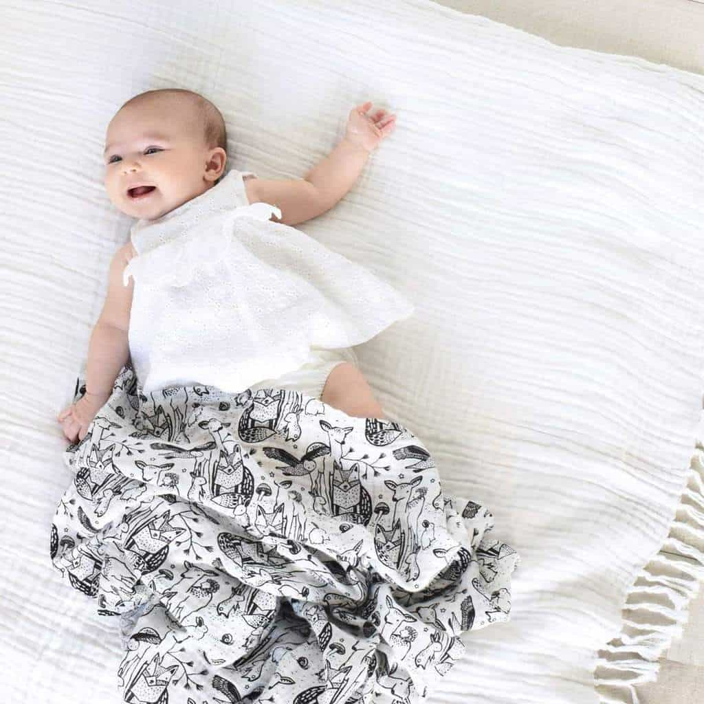 Forest Muslin Swaddle - Honey Bug