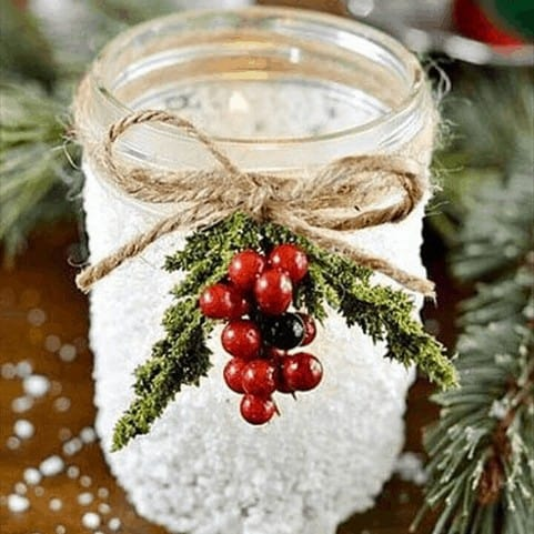 christmas crafts for toddlers pinterest - snow jar