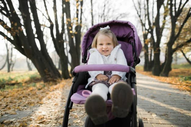 Premium Photo | Happy little girl with a stroller in a children's  entertainment center