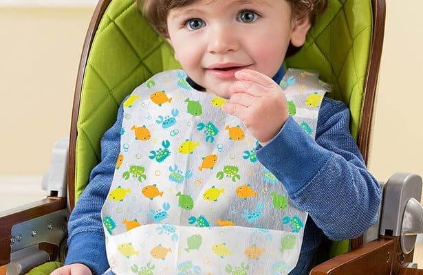 Disposable bibs are thinner and lightweight in material, making it perfect for travel. - How Many Bibs Do I Need for my baby?   Baby Journey
