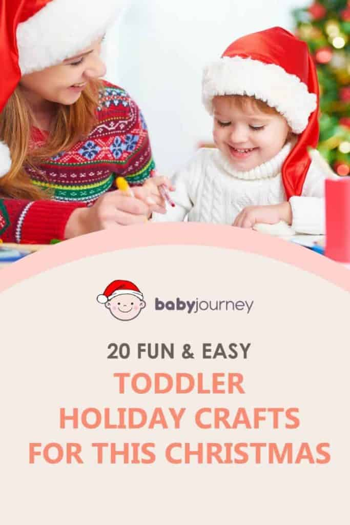 Toddler holiday crafts
