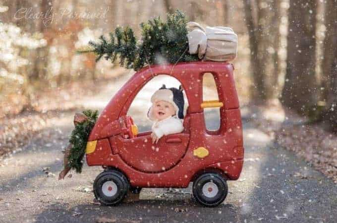baby delivering christmas tree