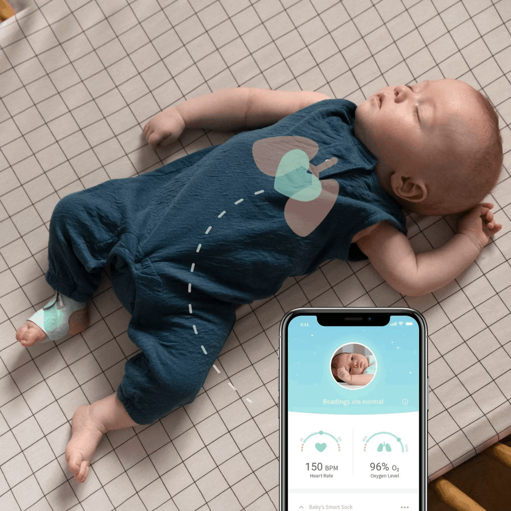 The Owlet oxygen monitoring display. - Nanit vs Owlet Baby Monitor Review | Baby Journey