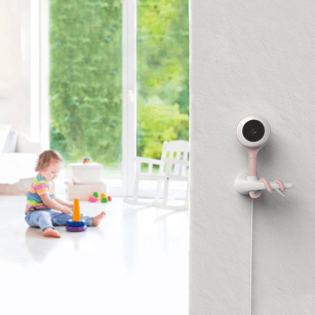 You can monitor any room with multiple cameras. - Lollipop Baby Monitor Review   Baby Journey