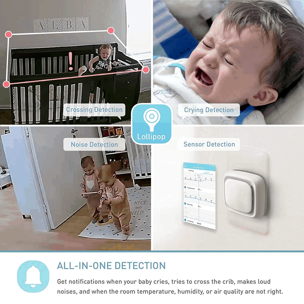 Multiple alert types are available. - Lollipop Baby Monitor Review   Baby Journey