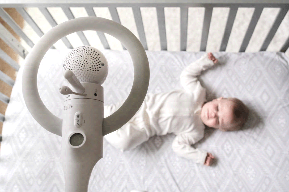 Attaching the baby monitor over the crib allows for a closer watch over your baby.- Where to Put Baby Monitor?   Baby Journey