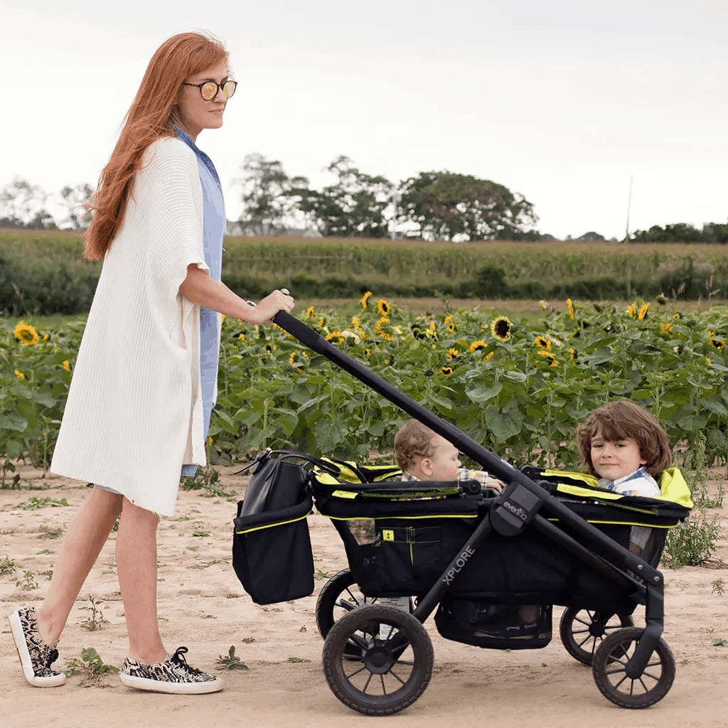 Look for wheels that can handle any kind of terrain, including sand. - Best Stroller Wagon | Baby Journey