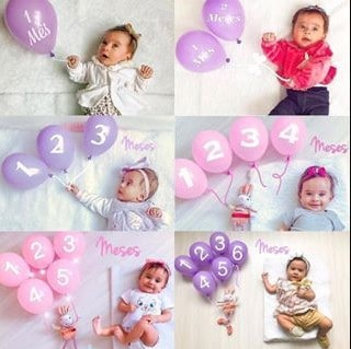 A photo ideas your baby will love (or scare), balloon monthly photo ideas | Babyjourney
