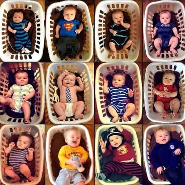 laundry basket month by month bay picture ideas