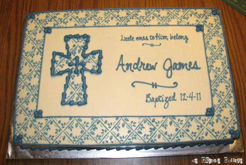 If you have a lot of words, don't over decorate the cake with other elements! - What to Write on Baptism Cake | Baby Journey