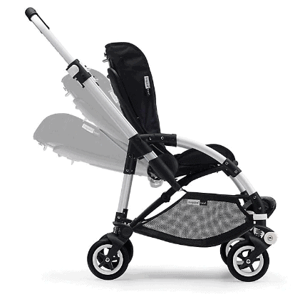 Bugaboo 5 reclining child seat has a five-point harness. - Bugaboo Bee 5 | Baby Journey