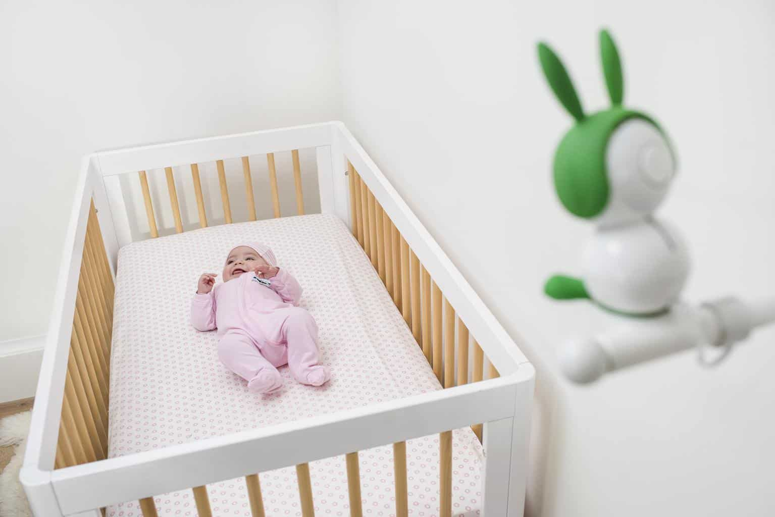 If you mount the Arlo Baby camera above the crib, you can ensure the best viewing area. - Arlo Baby Monitor Review | Baby Journey