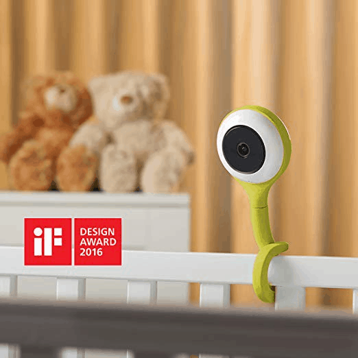 The crib mount looks friendly and cute.- Lollipop Baby Monitor Review   Baby Journey