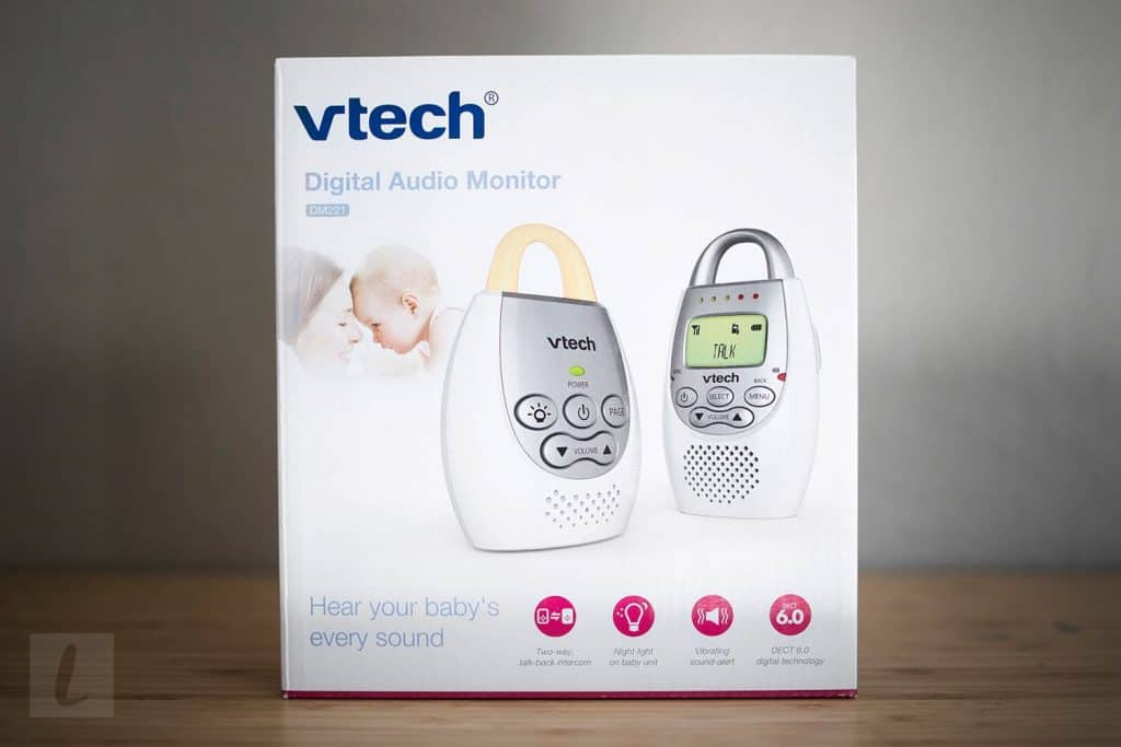 Vtech DM221 audio baby monitor in a package. - Vtech DM221 Review | Baby Journey