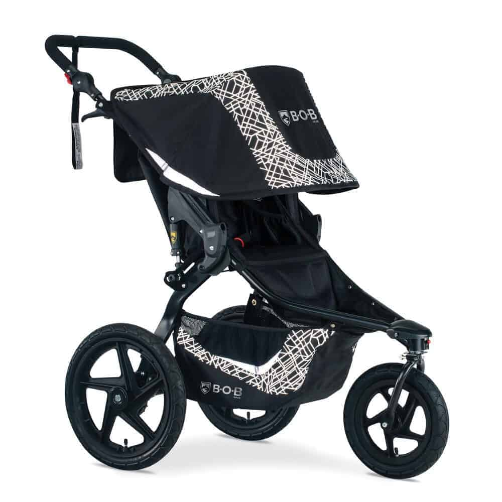 The large air-filled rubber tires of Bob Revolution Flex 3.0 and great suspension system makes for a smooth ride. - Bob Revolution  SE vs Flex | Baby Journey