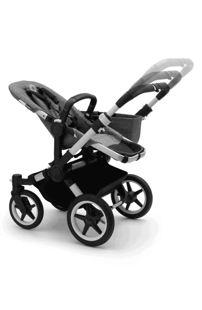 The adjustable handlebar suits many heights. - Bugaboo Donkey Review   Baby Journey