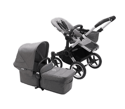 The child seat has a weight limit of 50lbs. - Bugaboo Donkey Review   Baby Journey