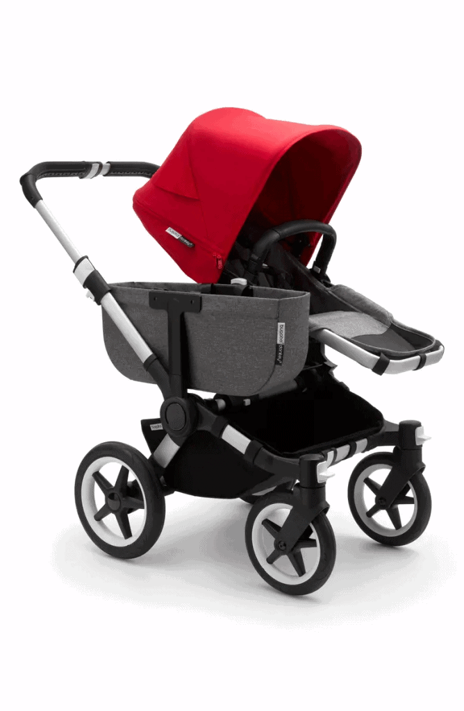 The side storage basket adds extra space.  - Bugaboo Donkey Review   Baby Journey