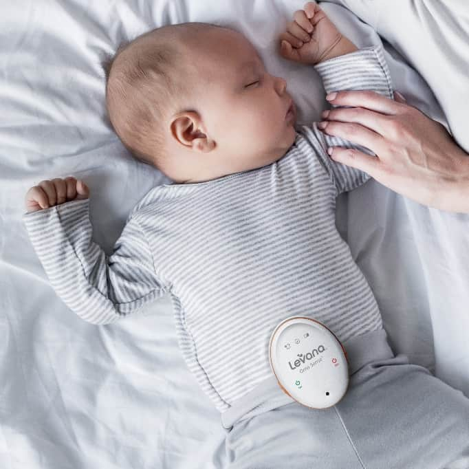 Make sure your Levana baby monitor is placed above the belly button properly to reduce chances of a false alarm. - Levana Baby Monitor Review   Baby Journey