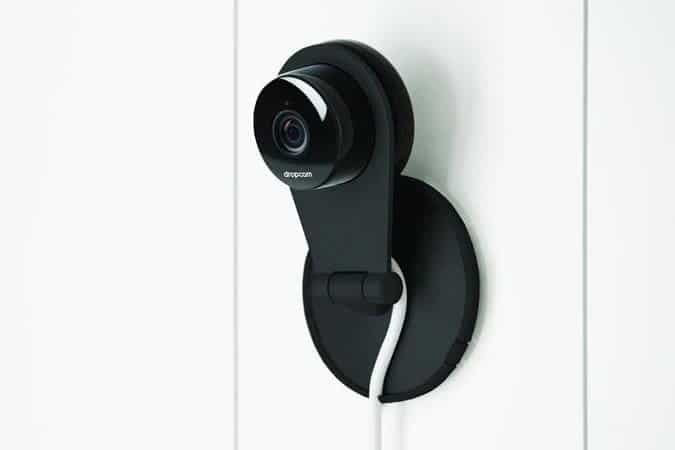 You can mount the Dropcam camera on the wall or place it on a flat surface.  -  Dropcam vs Motorola Baby Monitor review | Baby Journey