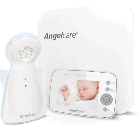 The camera has a nightlight and night vision. - Angelcare AC1300 review   Baby Journey
