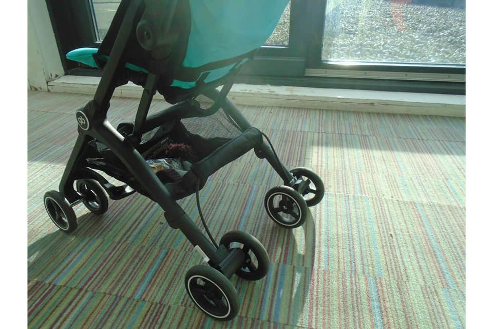 The GB Pockit stroller provides a decent storage basket for your convenience. - GB Pockit Stroller Review | Baby Journey