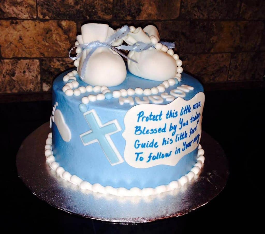 A prayer of your own! - What to Write on Baptism Cake | Baby Journey