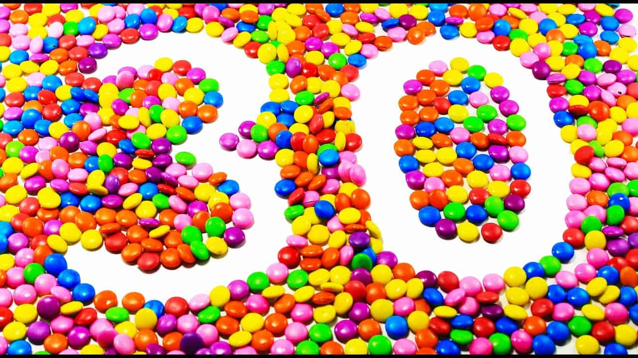 Learn To Count make Numbers 1-30 with M&M's : Learn To Count Numbers in  English For Kids Toddlers - YouTube