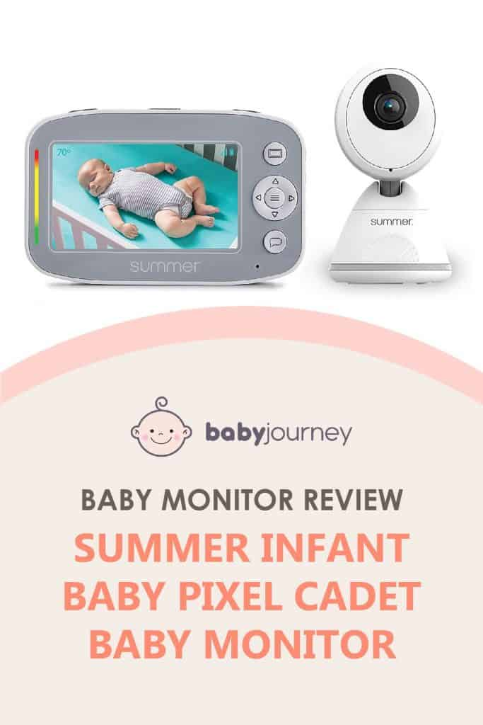 Summer Infant Baby Pixel Cadet Baby Monitor Review | Baby Journey