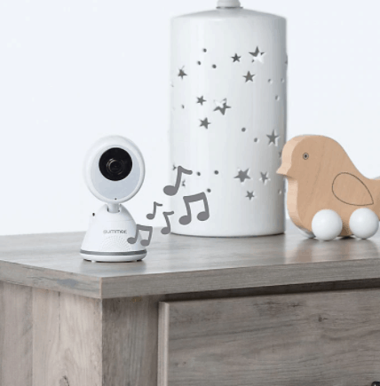 The lullaby and table stand feature.- Summer Infant Baby Pixel Cadet Baby Monitor Review | Baby Journey