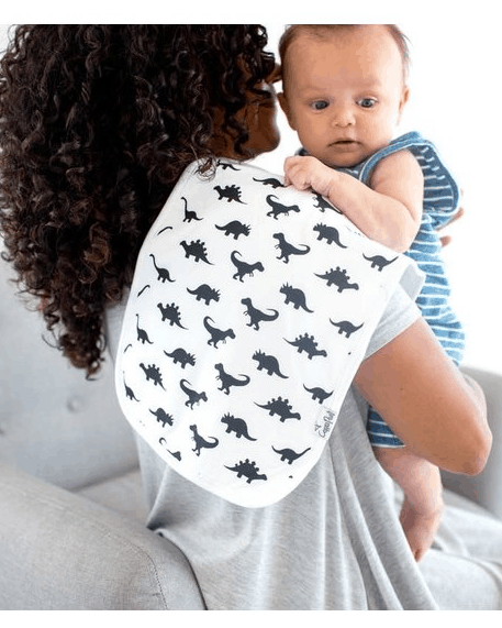 A burp cloth helps keep you and baby clean during baby burping. - How to Burp  Baby | Baby Journey