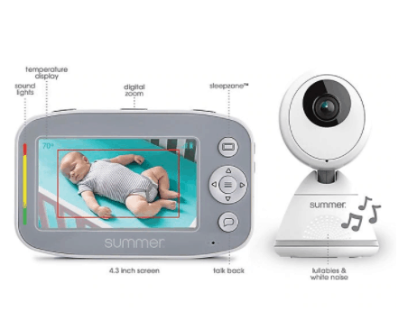 An overview of the various alert features.- Summer Infant Baby Pixel Cadet Baby Monitor Review | Baby Journey