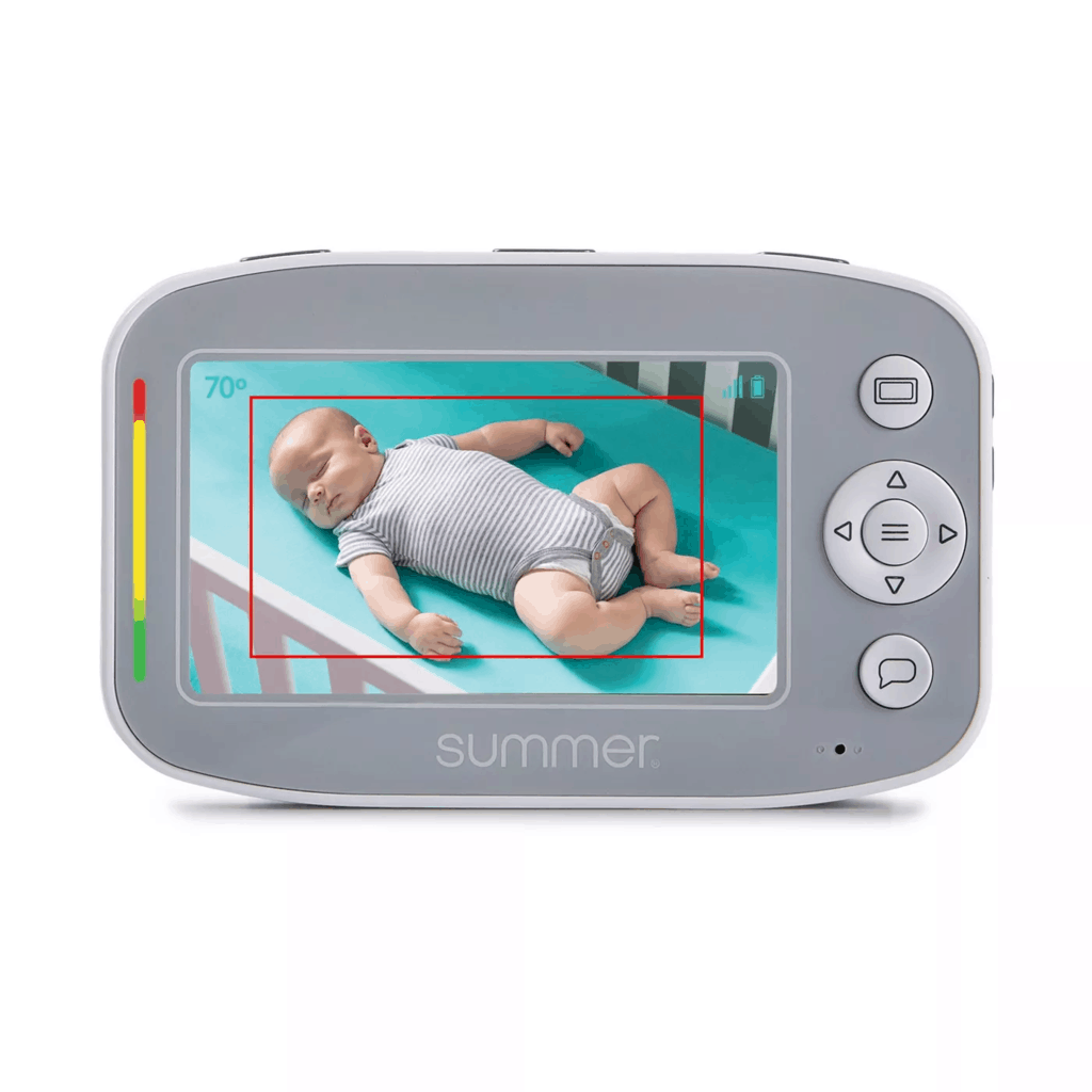 You can easily set the SleepZone perimeter from the parent unit. - Summer Infant Baby Pixel Cadet Baby Monitor Review | Baby Journey