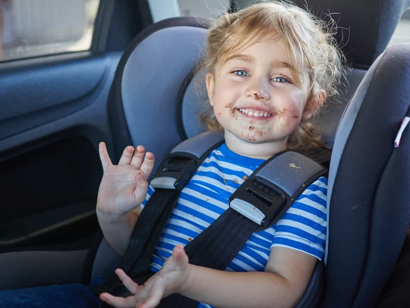 The one way to keep your car seat clean for longer is to forbid food in the car! - How to clean baby car seats | Baby Journey