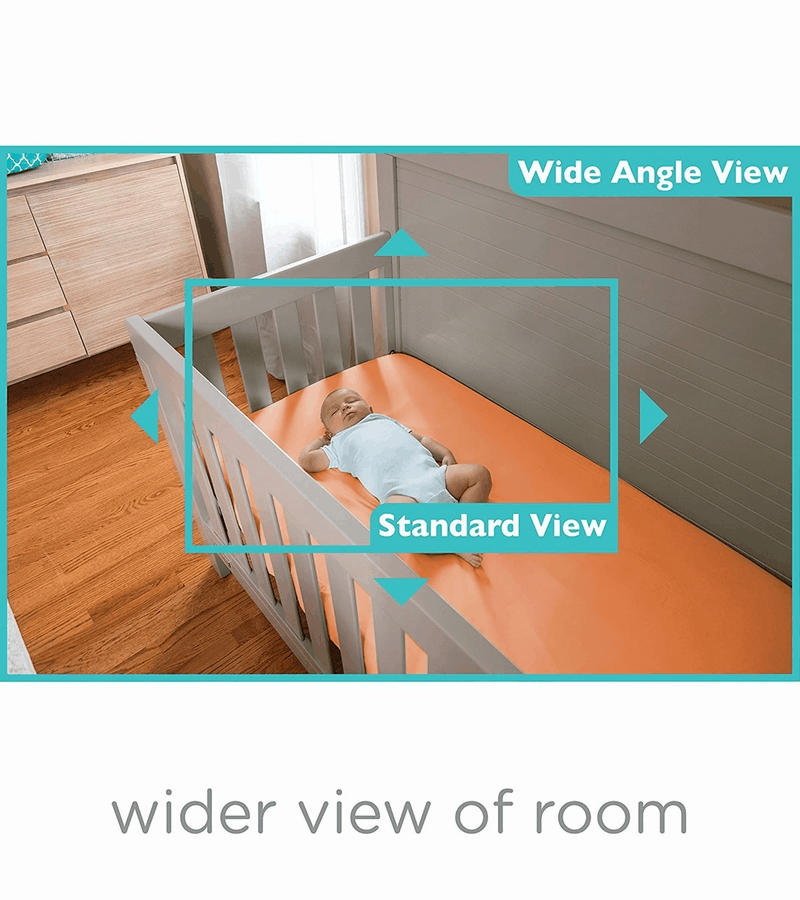 The difference between a wide angle view and standard view.  - Summer Infant Wide View Review | Baby Journey