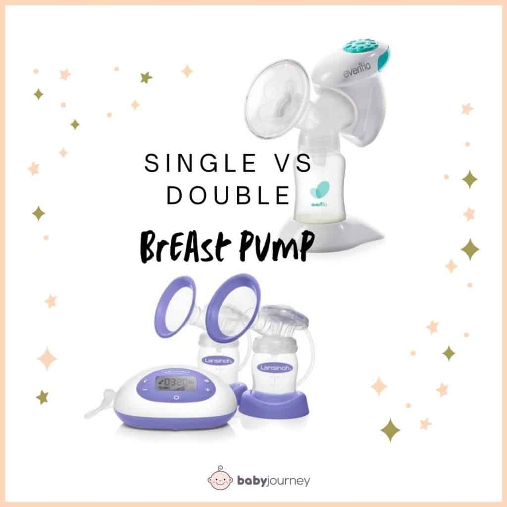 A single breast pump comes with one pump for one bottle, whereas a double breast pump has two of each.- How to Choose a Breast Pump | Baby Journey