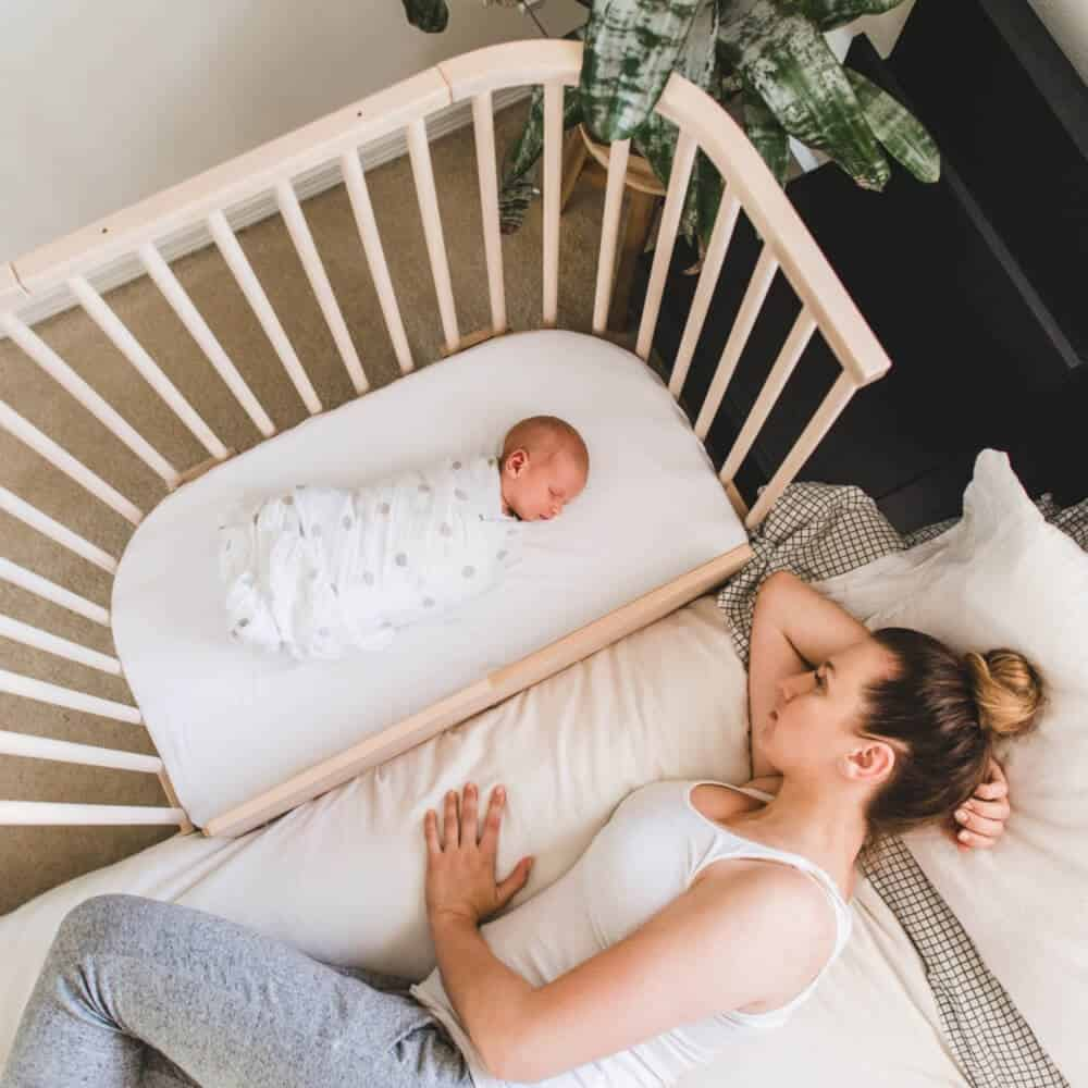 Co-sleepers make it easy to access baby during the night.
