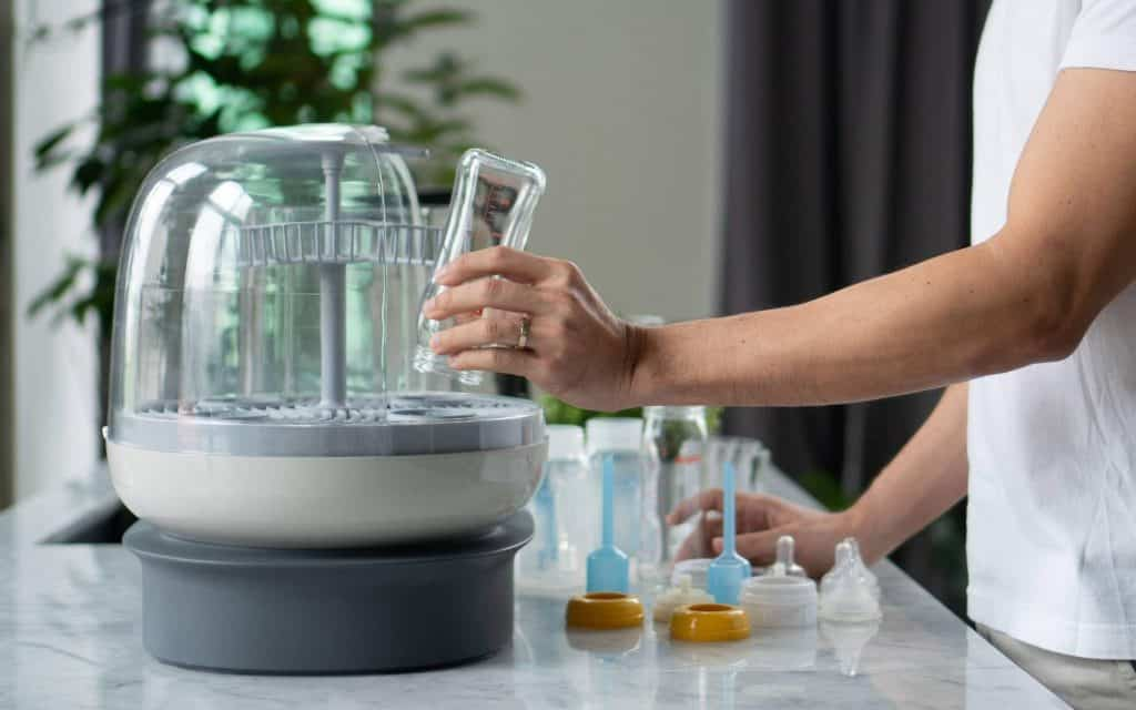 Sterilizers are convenient because the process is automatic, and they can sterilize several bottles at a time. -How to Sterilize Baby Bottles | Baby Journey