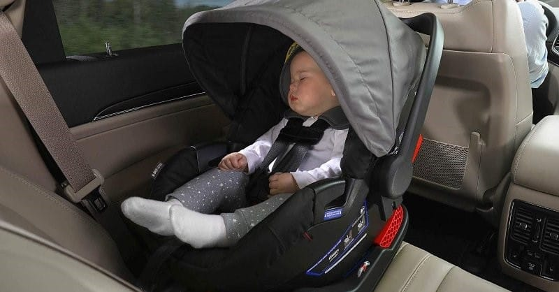I would appreciate the peek-a-boo window on the canopy. It would be useful for quick checkups on the baby and improve airflow under the canopy. -Britax B-Safe 35 Review | Baby Journey