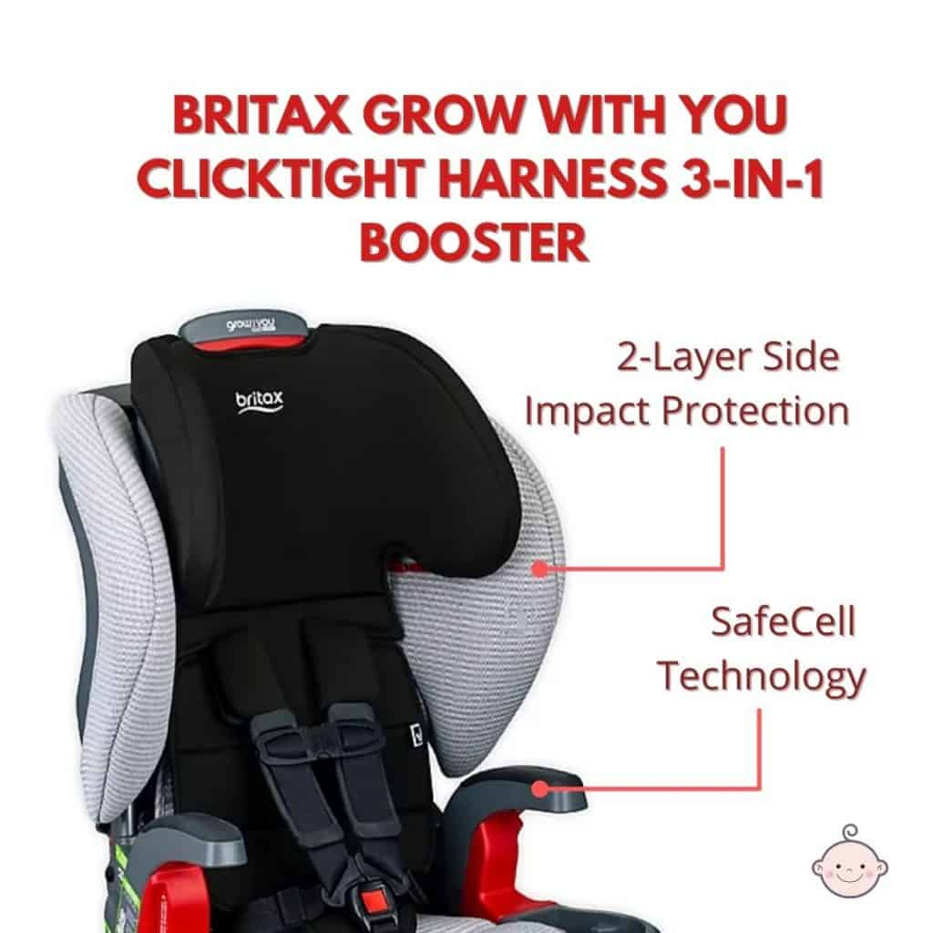 The Britax car seat features a two-layer protection and a honeycomb-designed SafeCell technology to cushion babies from unwanted impact.- Britax Frontier vs Graco Nautilus Review - Britax Grow With You ClickTight vs Graco Nautilus 65 LX Review   Baby Journey