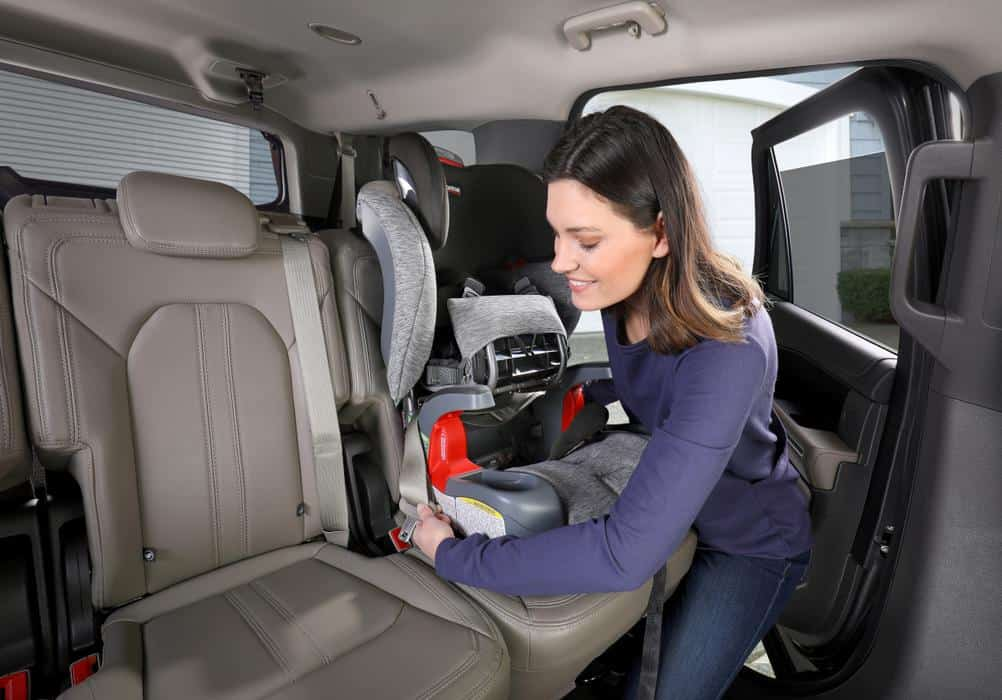 The one hand adjustable headrest and harness of the Britax makes it convenient to install.- Britax Frontier vs Graco Nautilus Review - Britax Grow With You ClickTight vs Graco Nautilus 65 LX Review   Baby Journey