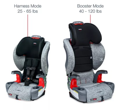 The two seat modes of the Britax.-Britax Frontier vs Graco Nautilus Review - Britax Grow With You ClickTight vs Graco Nautilus 65 LX Review   Baby Journey